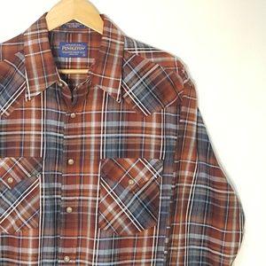🐎 Pendleton Pearl Snap Western Cotton Plaid Shirt